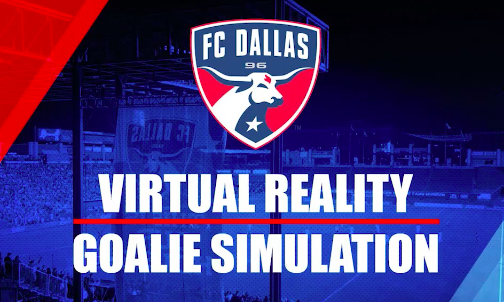 Virtual Reality Goalie Simulation Game with FC Dallas