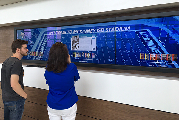 900lbs Launches Hall of Heroes Touch Wall at McKinney ISD Stadium